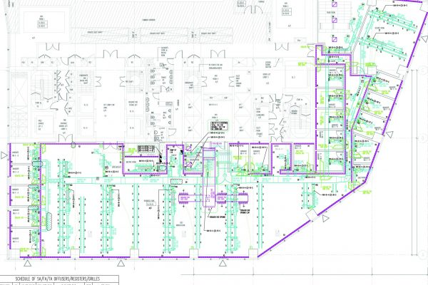 2D MEP Drawings Service M&E Drafting Service for ACMV