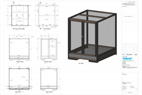 2D Shop Drawings Service for Fabrication