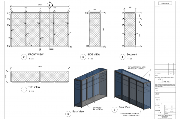 2D Shop Drawings Service for Construction