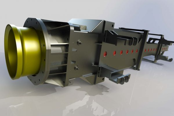 3D Modelling Service & Convert to Solidworks Service for Piling Hammer