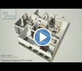 3D Walkthrough Service Animation & Visualization: Transitional Apartment Fly Around