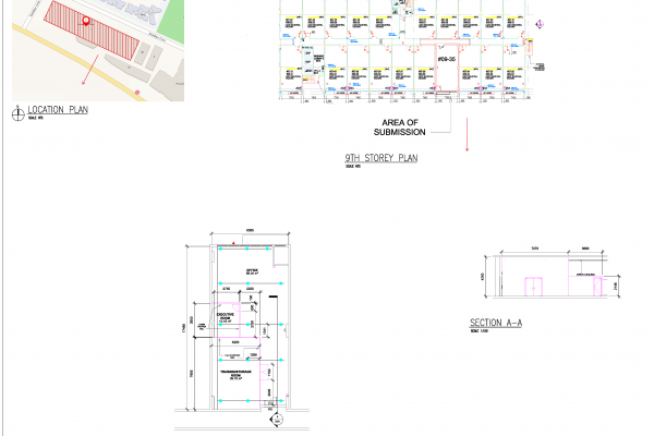2D Submission Drawings Service for FSSD & SCDF