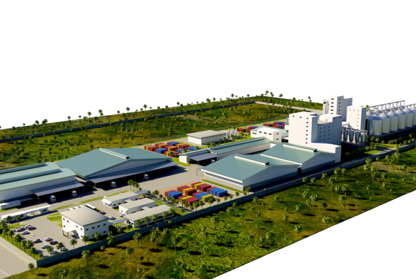 3D Rendering & Modeling Service for Exterior Logistic Plant 02
