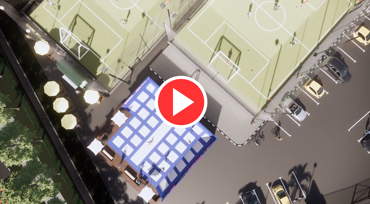 Sports Center 3D Fly-through using Enscape