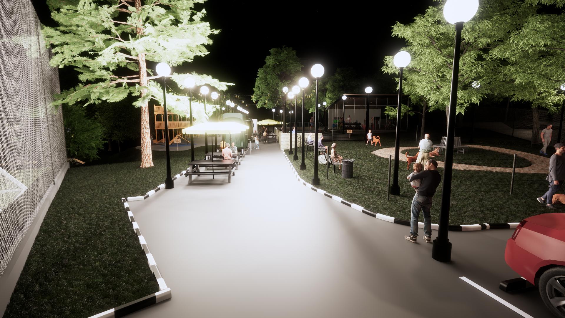 Park 3D Rendering Service, BIM Modelling, Convert to BIM Service