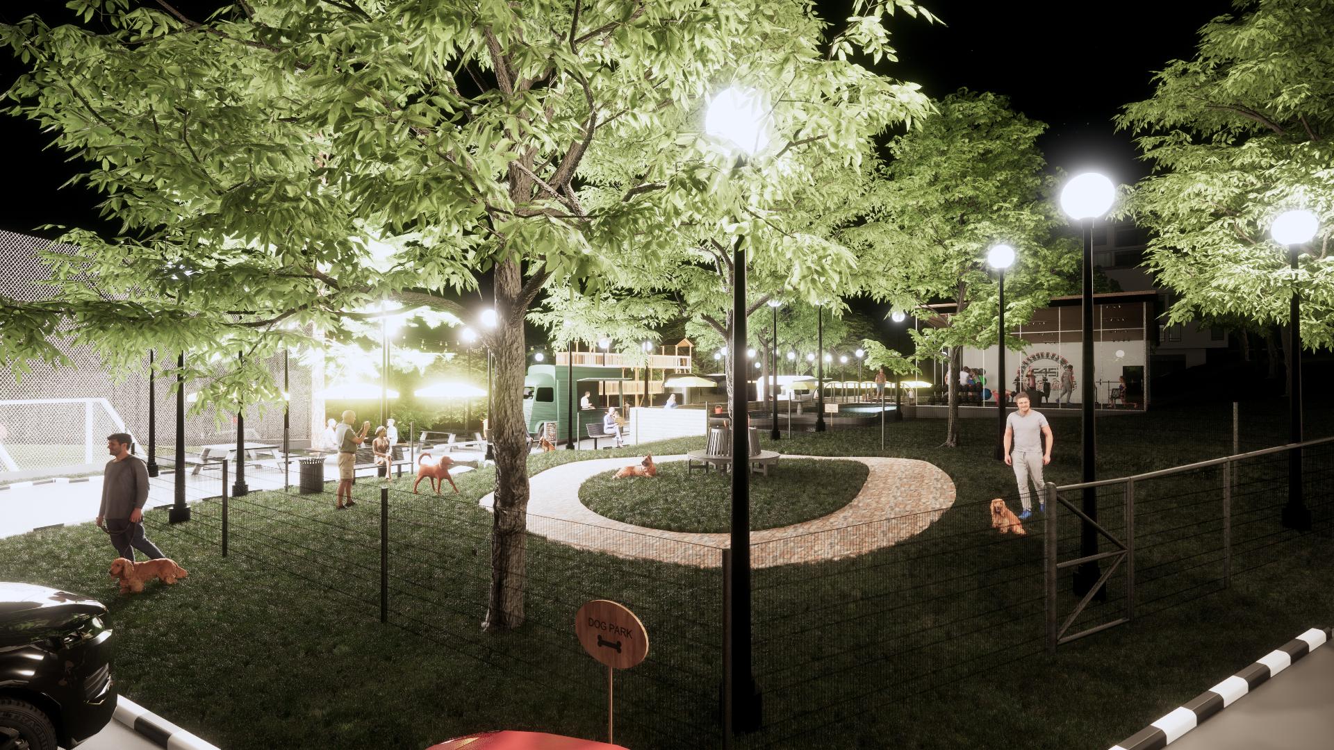 Park 3D Rendering BIM Modelling